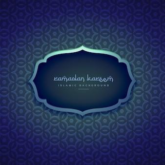 belle islamic saison ramadan fond avec des formes de motif