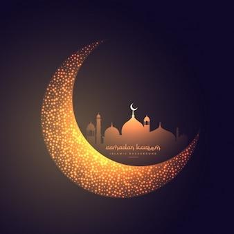 belle lune et la conception de la mosquée