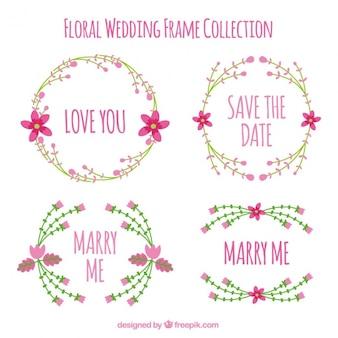 Belles images de mariage avec des fleurs roses