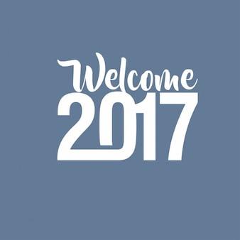 Bienvenue à 2017 lettrage Creative