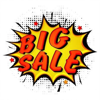 Big Sale, Popart Banner.
