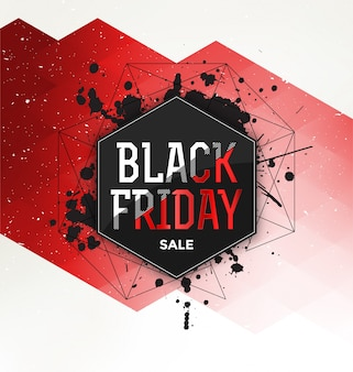 Black Friday Sale Conception typographique