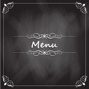 Blackboard menu de restaurant