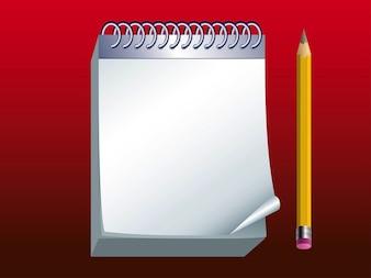 Blanc note de papier avec un crayon