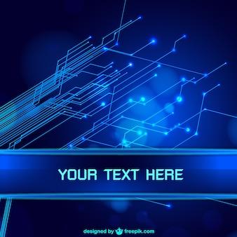 Bleu abstrait de technologie