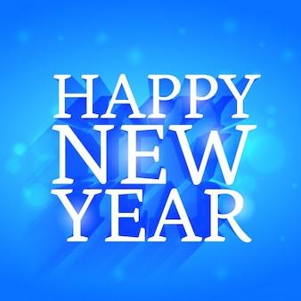 Bleu bokeh carte nouvel an