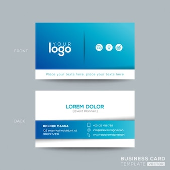 Bleu business carte design namecard Clean et simple