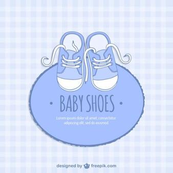Bleu carte chaussures de bébé
