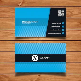 Bleu carte de visite minimale