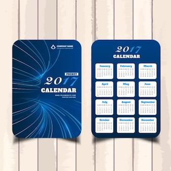 Bleu géométrique 2017 calendrier