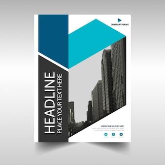 Bleu Noir créatif rapport annuel modèle de couverture du livre