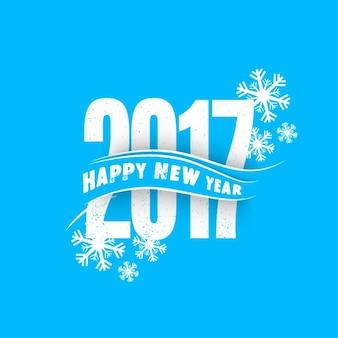 Bleu nouveau fond d'année avec des flocons de neige décoratifs