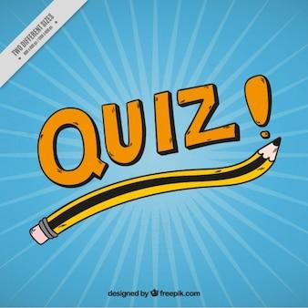 Bleu questionnaire fond avec un crayon à la main dessinée