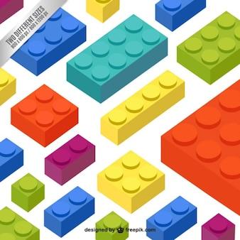 Blocs colorés fond