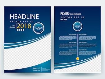 Blue A4 Brochure Layout template