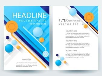 Blue A4 Brochure Modèle de disposition avec élément circulaire