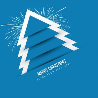 Blue christmas tree background