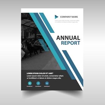 Blue creative annual book book cover template