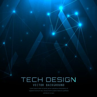 Blue technical background design