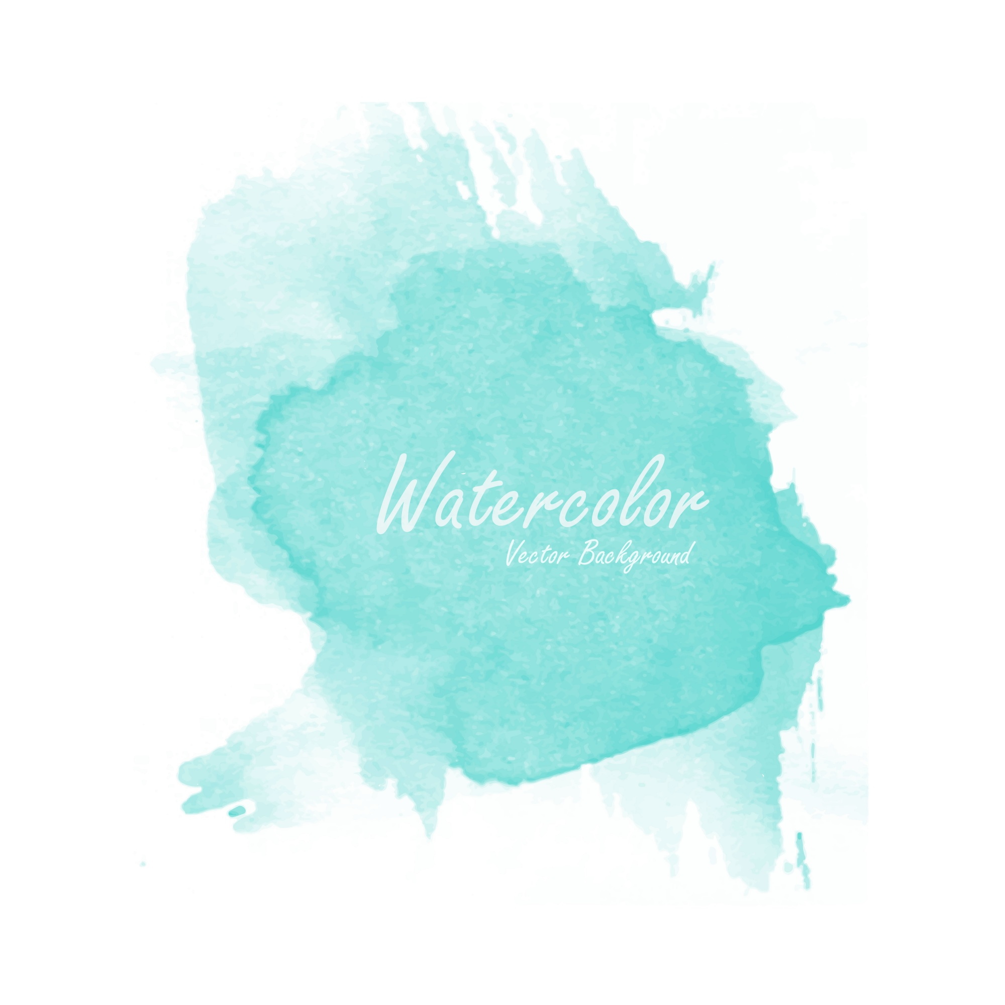 Blue watercolor background template vector