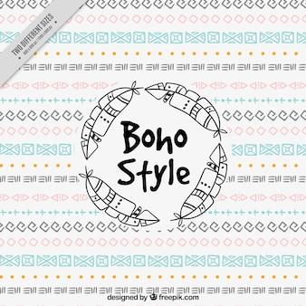Boho fond avec des dessins géométriques