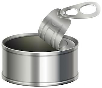 Boîte en aluminium avec couvercle ouvert