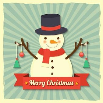 Bonhomme de neige avec des boules de Noël