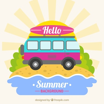 Bonjour fond d'été van design