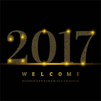 Bonne année 2017 fond