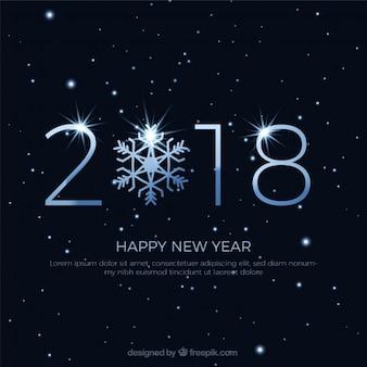 Bonne année 2018 étoiles arrière-plan