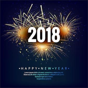 Bonne année 2018 fond coloré