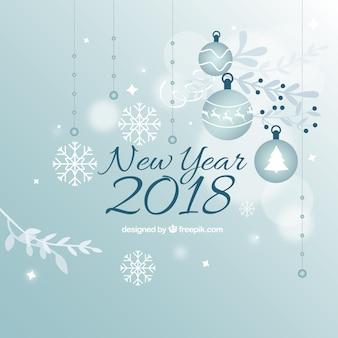 Bonne année 2018 fond décoratif