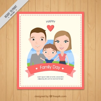 Bonne carte de journée en famille