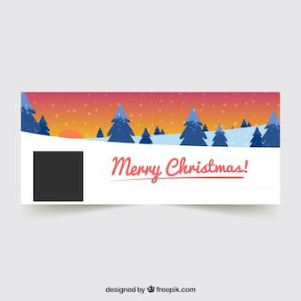 Bonne couverture de Noël avec des pins