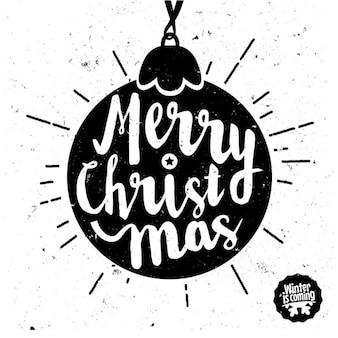 Boule de Noël avec le texte