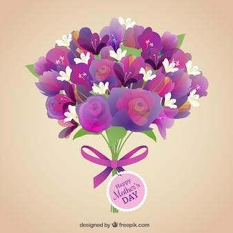 Bouquet de fleurs pour la fête des mères