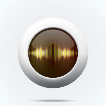 Bouton avec des ondes sonores