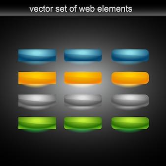 Bouton web vectoriel de tweleve