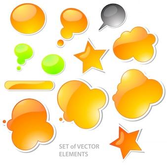Boutons envoyer signes graphiques étoiles