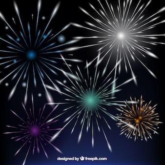 Bright Fireworks Background