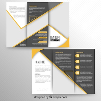 Brochure à trois volets moderne