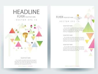 Brochure A4 Modèle de présentation avec élément triangulaire