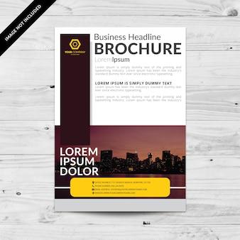 Brochure commerciale avec des couleurs sombres
