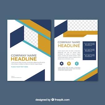 Brochure commerciale avec géométrie abstraite