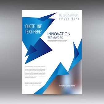 Brochure commerciale blanche et bleue