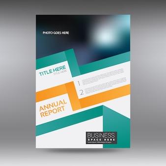 Brochure commerciale blanche, verte et orange
