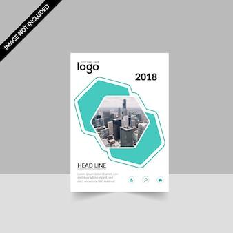 Brochure commerciale géométrique blanche