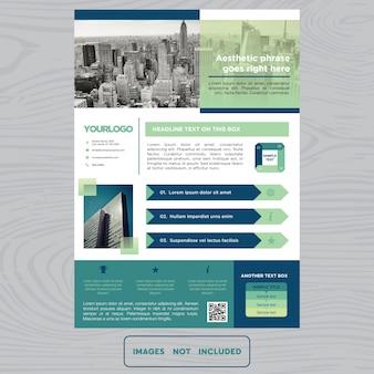 Brochure commerciale multicolore