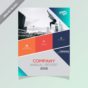 Brochure commerciale multicolore