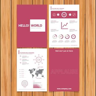 Brochure commerciale rose et blanche